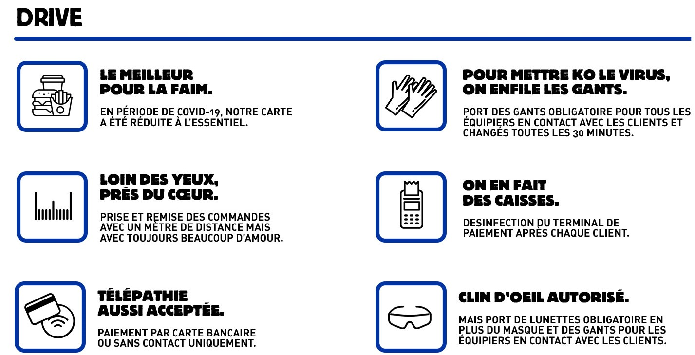 Burger King communication-restaurants-drive-livraison-burgers-réseaux sociaux-Instagram-Facebook-Twitter-confinement-covid-19-communication-promotion-mesures-street marketing-réouverture-