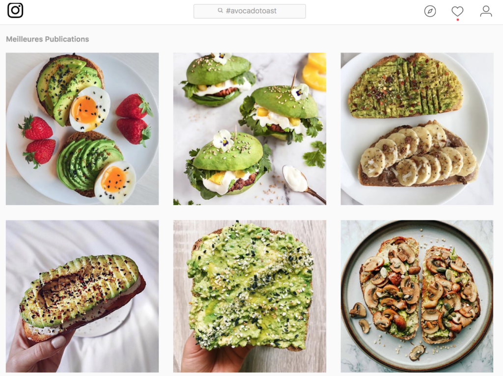 avocado toast instagram restaurant