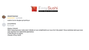 Photo avis Easy sushi