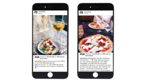 Publications Instagram de l'influenceuse aurorefrg sur le restaurant Pizzou