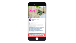 Exemple d'impact des publications d'influenceurs sur instagram restaurant pizzou