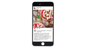 La publication Instagram de l'influenceuse Callmevoyou sur le restaurant pizzou