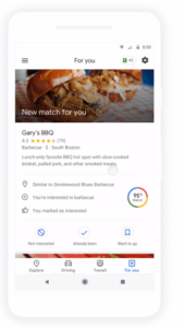 Google Maps restaurants-Google My Business-restaurants-clients-géolocalisation-Google Guide Connect-guide-avis-Facebook-Instagram-Gary's bbq