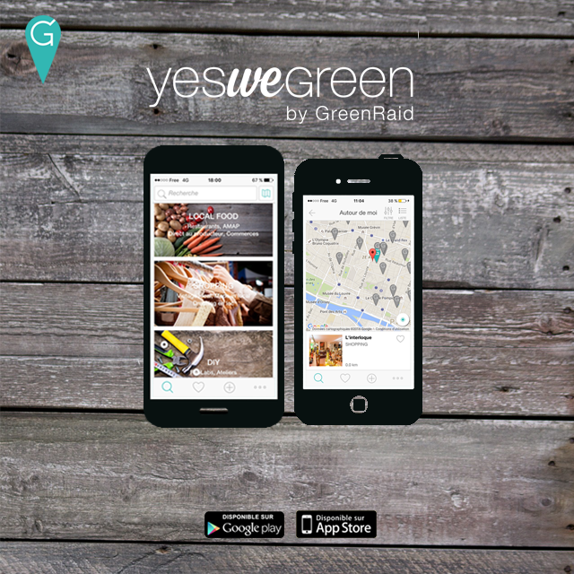 application Yeswegreen - restaurant écoresponsable - développement durable