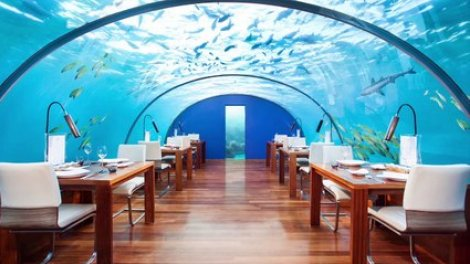 Ithaa - restaurant insolite - original - atypique - sous marin - maldives