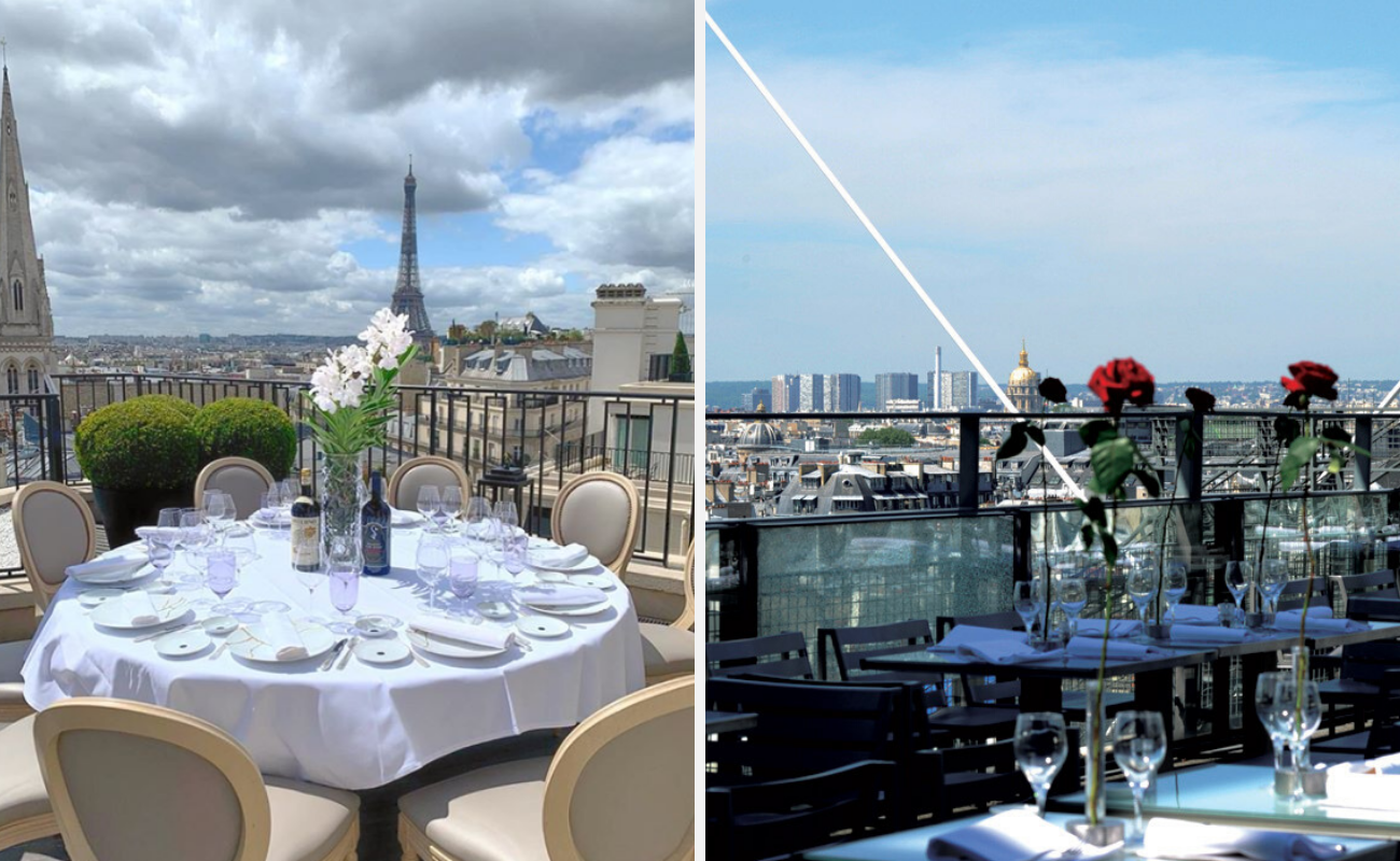 meilleurs rooftops paris-restaurants-bars-paris-terrasses-rooftops-vue-Le Georges