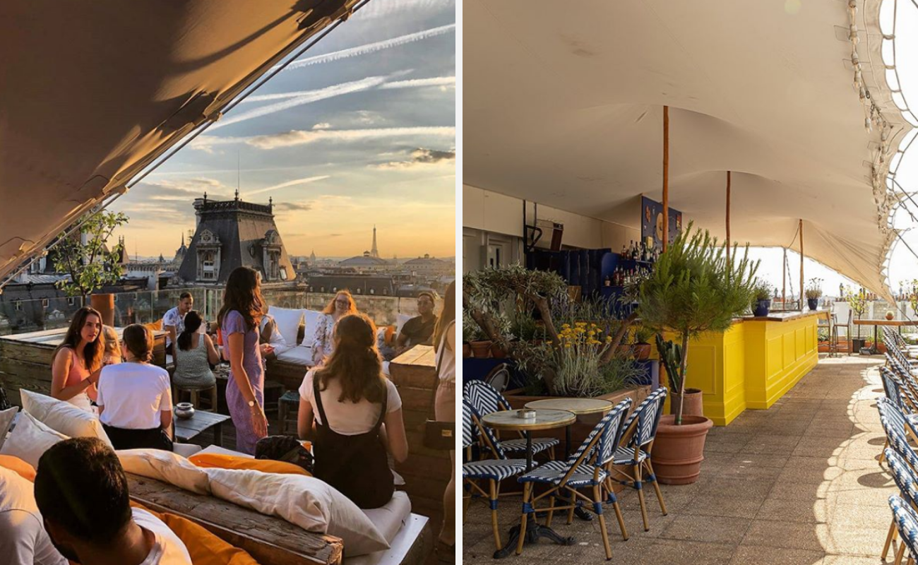 meilleurs rooftops paris-restaurants-bars-paris-terrasses-rooftops-vue-Perchoir Marais