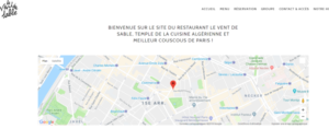 Site de restaurant-Internet-pages-informations-photos-tripadvisor-instagram-facebook-googlemaps-réservation-offre-menu-prix-le vent de sable