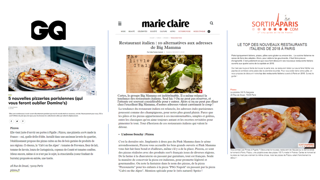 communication restaurant-référencement local-annuaires-avis clients -instagram-facebook-stories-posts-relations presse-storytelling-journalistes-influenceurs-community management-Pizzou-RP