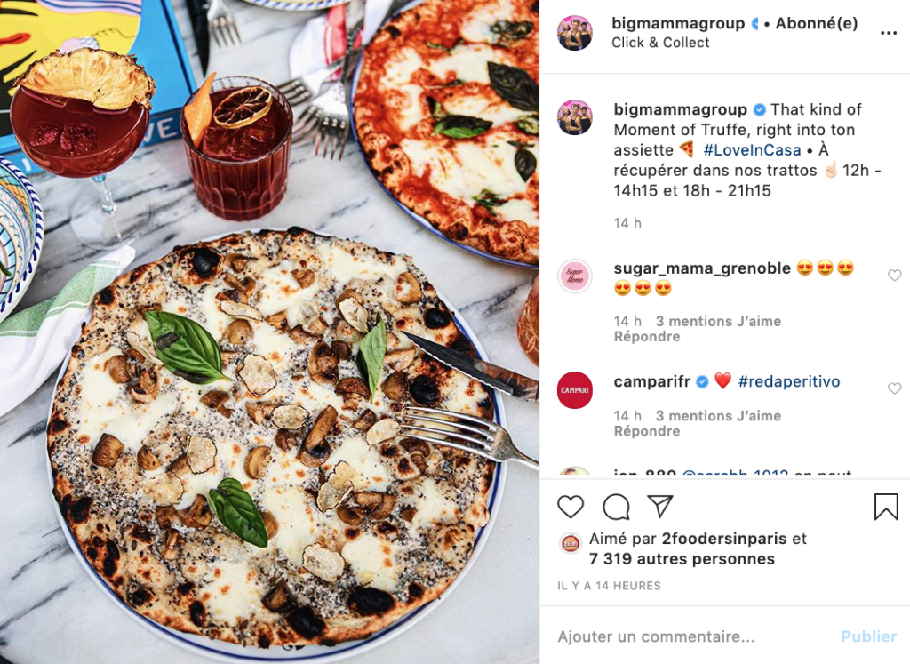 communiquer-reprise-restaurants-referencement local-avis clients-photos-réseaux sociaux-posts-stories-instagram-facebook-influenceurs-sponsorisation-médias-journalistes-bigmamma-click and collect